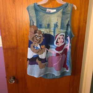 Beauty and the Beast Winter Scene Tank Top